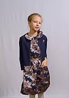 Платье с болеро для девочек Цветы 134-152 ростаа
