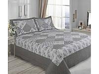 Серое покрывало для кровати + две наволочки Arya 180X240 Peluci AR33