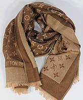 Кашемировый палантин Louis Vuitton коричнево-золотистый двусторонний