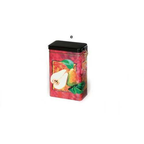"""Банка для хранения чая """"Фруктовый сад"""" с клипсой 500 грамм"""
