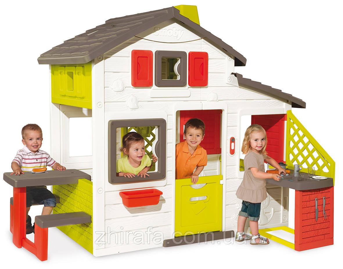 Игровой детский домик Smoby с летней кухней (810200)