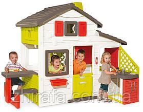 Дитячий ігровий будиночок Smoby з літньою кухнею (810200)