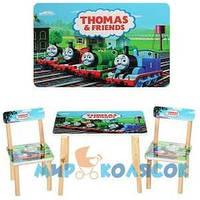 Детский столик с двумя стульями 501 - 27 Паровозик Томас и его друзья