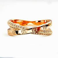 Кольцо позолоченное 16 размер