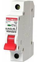 Выключатель автоматический 1П, 16А, характеристика С, Enext e.mcb.stand.45.1.C16, s002008