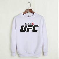 Свитшот UFC белый  | мужской  | женский  | реглан  | реплика  | кофта  | свитер  | осенний