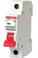 Выключатель автоматический 1П, 20А, характеристика С, Enext e.mcb.stand.45.1.C20, s002009