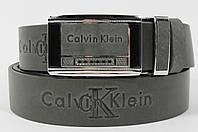 Кожаный ремень автомат мужской Calvin Klein 8036-303 серый