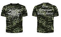 Рок футболка Dark Throne (пиксельный камуфляж)