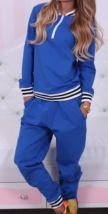 Подростковый спортивный костюм на молнии с довязом