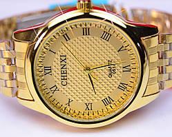 Мужские часы CHENXI золотой корпус