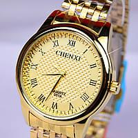 Мужские наручные часы CHENXI золотой корпус, фото 1