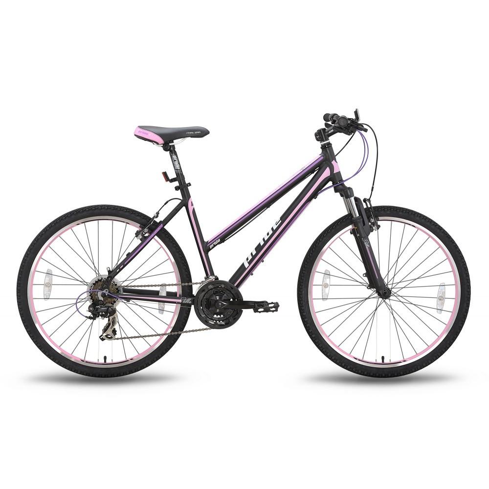 "Велосипед 26'' Pride Stella рама - 18"" черно-розовый матовый 2016"