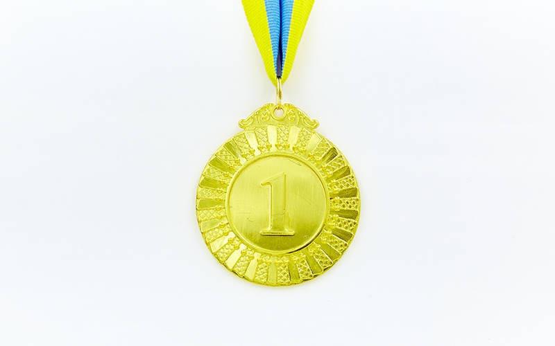 Медаль спортивна зі стрічкою FLASH d-6,5 см C-4328 1-золото, 2-срібло, 3-бронза (метал, 38g)