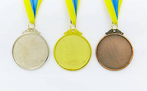 Медаль спортивна зі стрічкою FLASH d-6,5 см C-4328 1-золото, 2-срібло, 3-бронза (метал, 38g), фото 2