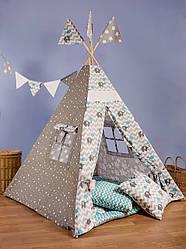 Вигвам - палатка  «Слоник с голубым зонтом»