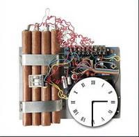 "Картина-часы (45х45 см) ""Взрывчатка"""