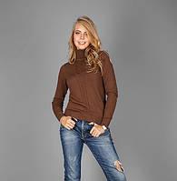 Вязаный женский свитер из натуральной хлопковой пряжи