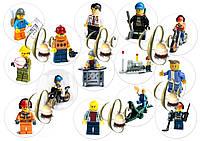 Печать вафельной картинки лего (человечки) на капкейки