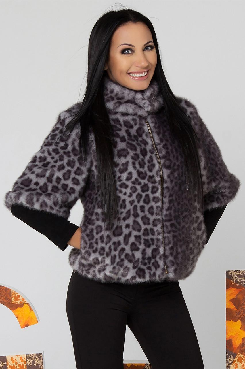 Шуба искусственная с красивым ЭКО-мехом с леопардовым принтом 44,46 размер