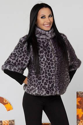 Шуба искусственная с красивым ЭКО-мехом с леопардовым принтом 44,46 размер, фото 2