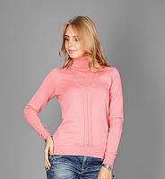 Красивый женский свитер из натуральной хлопковой пряжи