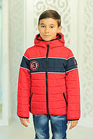 Куртка СПОРТ демисезонная, красная, р.116-134