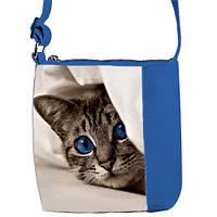 Синяя сумочка для дочки с изображением Кошка