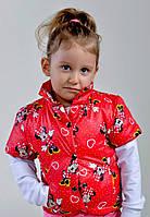 Детская Дутая жилетка на девочку Микки Маус