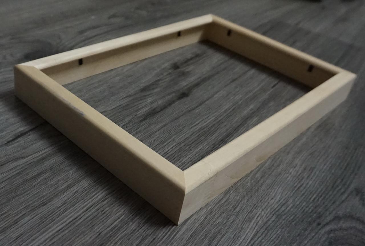 Деревянная рамка объемная из профиля 16мм. Размер, см.  10*10