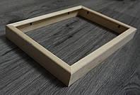 Деревянная рамка объемная из профиля 16мм. Размер, см.  10*10, фото 1
