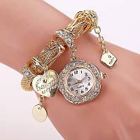 Часы браслет Pandora Пандора золотой
