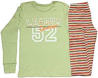 Пижама подростковая для мальчика, хаки с полосатыми брючками, Лига Чемпионов, рост 152 см, 158 см, Фламинго