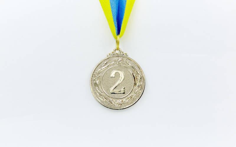 Медаль спортивна зі стрічкою GLORY d-4,5 см C-4335-1 місце 1-золото (метал, d-4,5 см, 18g)