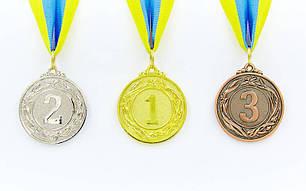 Медаль спортивная с лентой GLORY d-4,5см C-4335-1 место 1-золото (металл, d-4,5см, 18g), фото 2