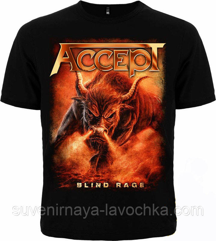 "Рок футболка Accept ""Blind Rage"""