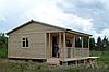 Дачный домик с верандой на 40м2