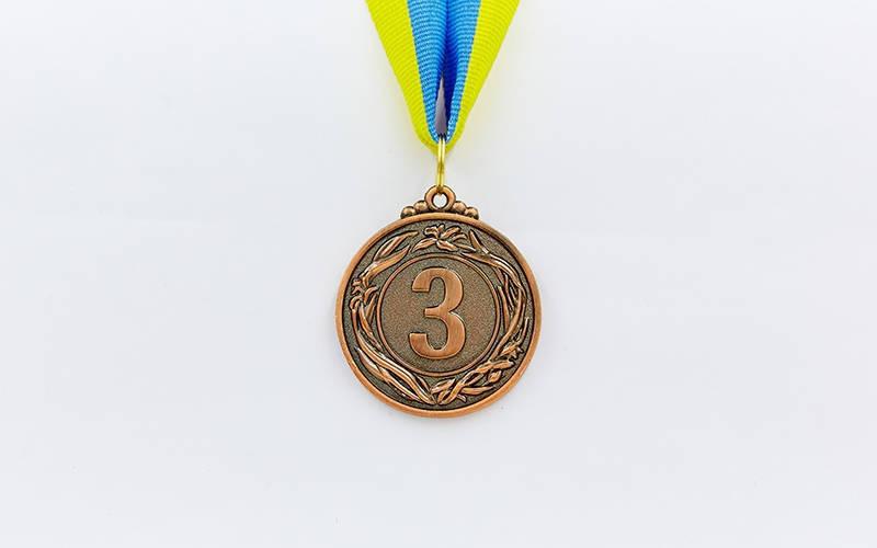 Медаль спортивная с лентой GLORY d-4,5см C-4335-1 место 1-золото (металл, d-4,5см, 18g)