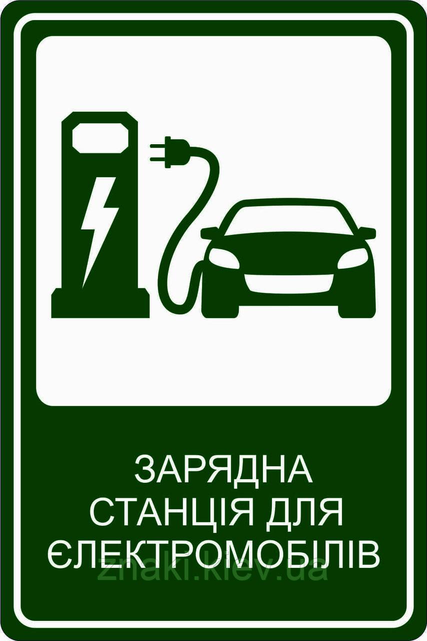 Знак для зарядки электромобилей