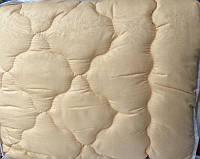 Однотоное теплое одеяло овечья шерсть + микрофибра оптом и в разницу