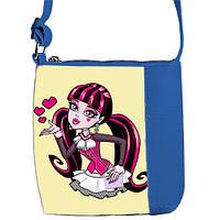 Синяя сумочка для девочки с принтом Monster High