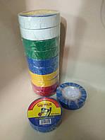 Изолента пвх разноцветная 18 мм 11 м