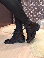 """Ботинки """" Болеро камни """" черные лаковые код 1898"""
