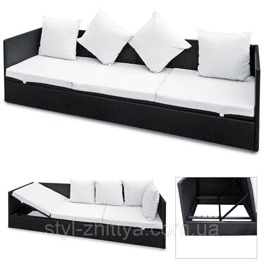 3-ри місний диван з штучного ротангу Carina