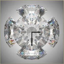 """Картина-часы (60х60 см) """"Бриллиантовый орнамент"""""""
