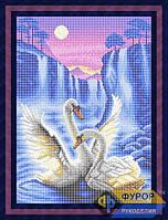 Схема для вышивки бисером - Пара лебедей под луной, Арт. ЖБп3-054