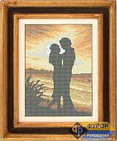 Схема для полной вышивки бисером - Влюблённая пара на закате, Арт. ЛБп3-2