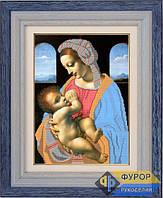 Схема для вышивки бисером - Мадонна с младенцем, Арт. ЛБч3-3