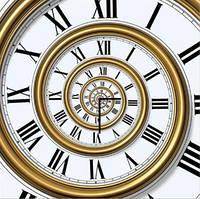 "Картина-часы (60х60 см) ""Спираль времени"""