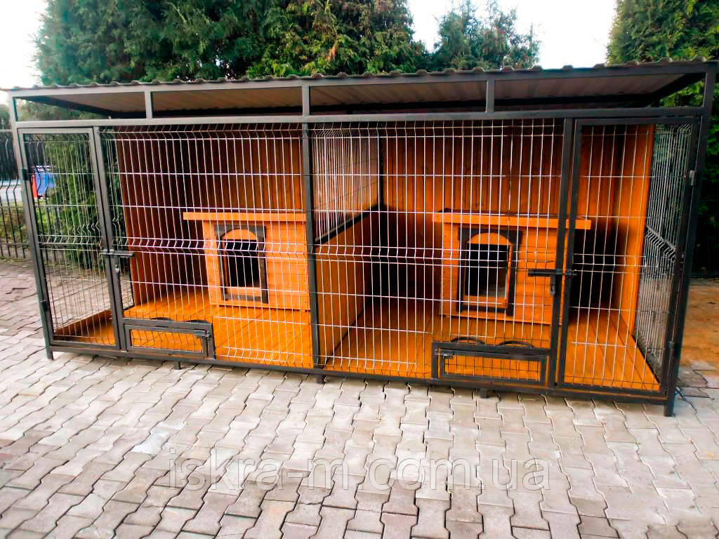 Уличные вольеры для двух собак